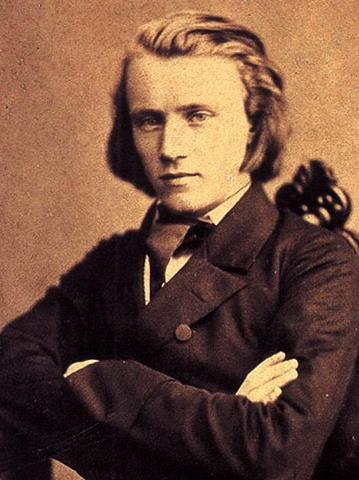 Иоганнес Брамс в 1853 г.