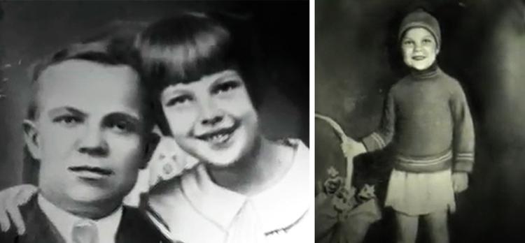 Тамара Носова в детстве (слева с отцом)