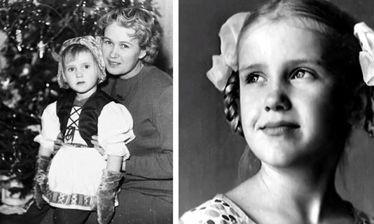 Ирина Розанова в детстве (слева с мамой)