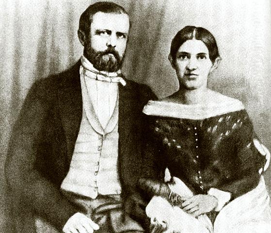 С женой Иоганной