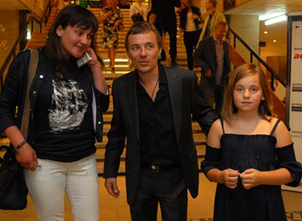 Со второй женой Натальей и дочерью Софьей
