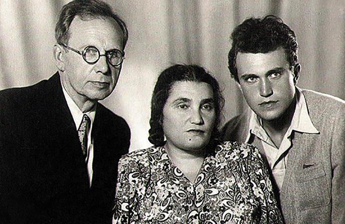 Со вторым мужем Павлом и сыном Василием