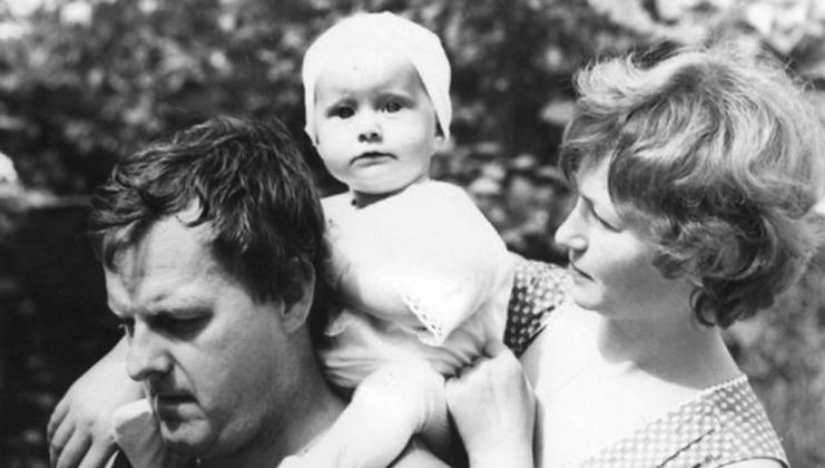 С женой Людмилой и дочерью Ксенией