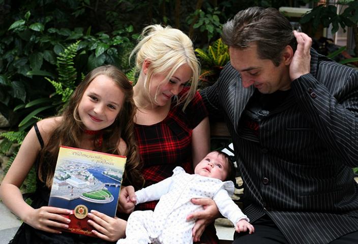 Михаил и Ольга с детьми