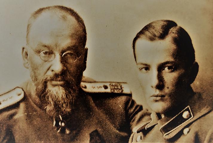 Евгений Боткин с сыном Глебом