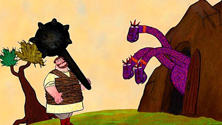 Никита Кожемяка и змей в цикле мультфильмов «Гора самоцветов»