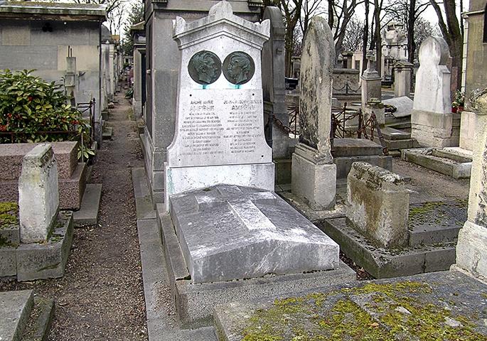 Могила Андре-Мари Ампера и его сына