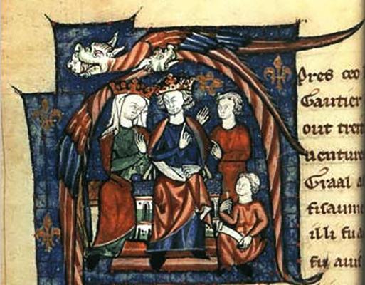 Изображение XII века Генриха и Алиеноры Аквитанской