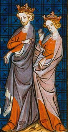 Представление XIV века Генриха и Алиеноры