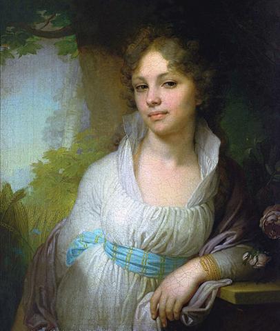Портрет Марии Лопухиной (худ. В. Л. Боровиковский, 1797)