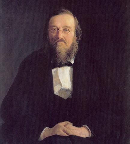 Н. И. Костомаров (Н. Ге, 1878)