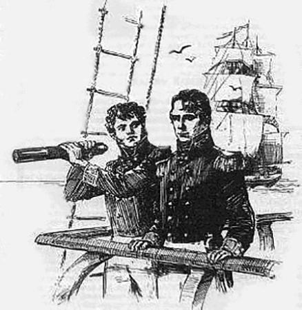 Ю. Ф. Лисянский и А. И. Крузенштерн