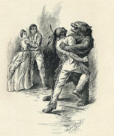 «Последний из могикан». Иллюстрация из издания 1896 г., Дж. Т. Меррилл