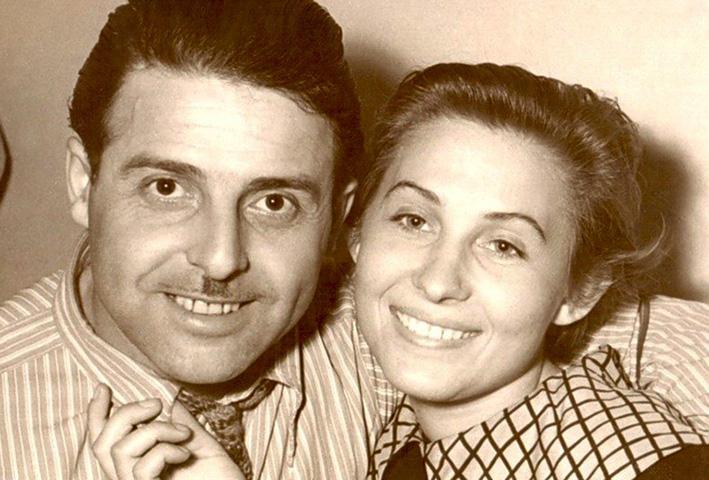 С женой Лидией в молодости
