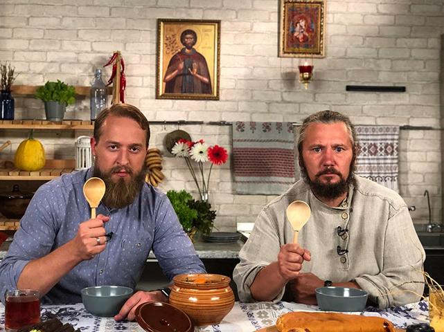Олег Робинов в передаче «Монастырская кухня»