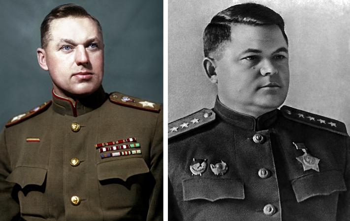 Константин Рокоссовский и Николай Ватутин
