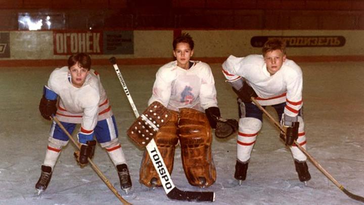 Иван Ткаченко (слева) в юности