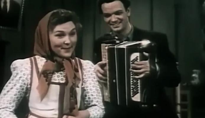 С Верой Васильевой в фильме «Сказания о земле Сибирской» (1947)