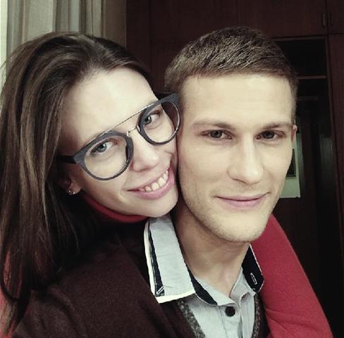 С женой Аленой