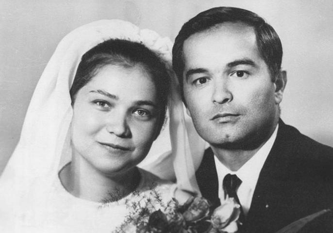 С женой Татьяной в молодости