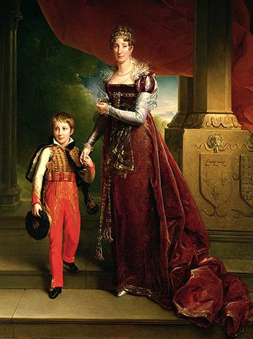 Мария Амалия, герцогиня Орлеанская с сыном Фердинандом Филиппом