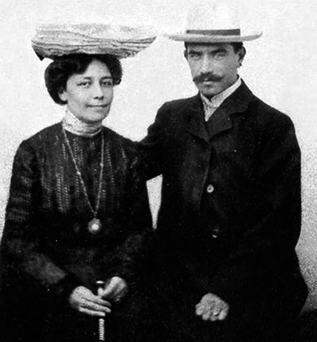 С женой Марией