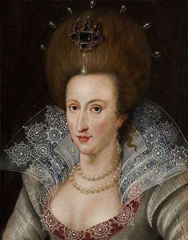 Анна Датская. Портрет 1605 г.