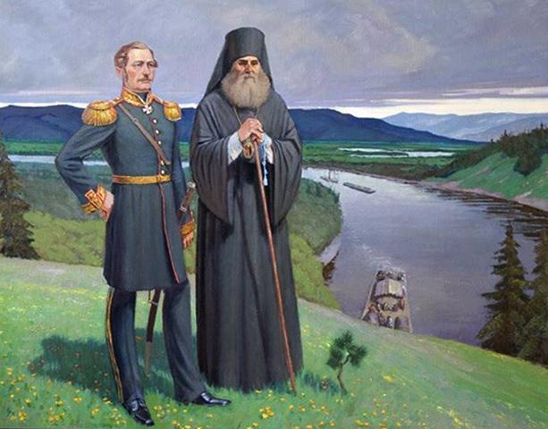 Н.Н. Муравьёв-Амурский с архиепископом Иннокентием