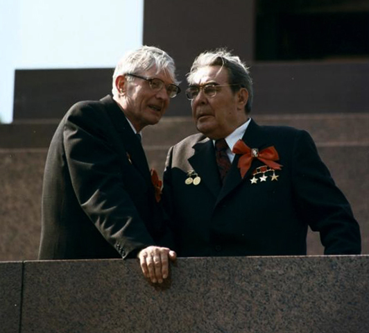 С Леонидом Брежневым