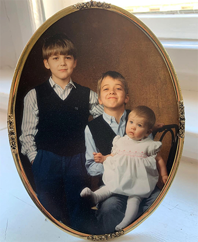 Дэвид Гарретт (в центре) с братом и сестрой
