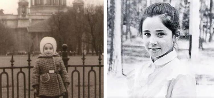 Любовь Тихомирова в детстве