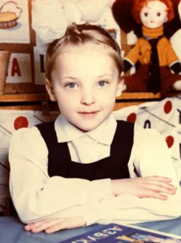Елена Шилова в детстве