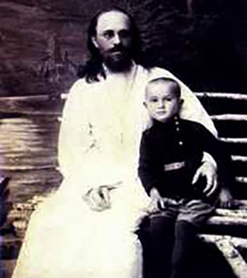 Гавриил Троепольский с отцом в детстве