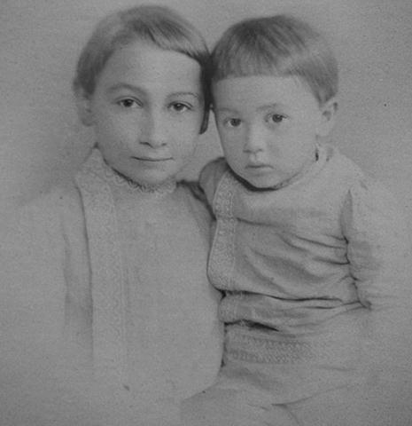 Павел Флоренский с братом Александром (около 1890 г.)
