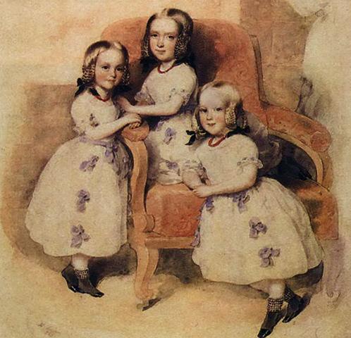 Дочери — Леони, Матильда, Берта (1843)