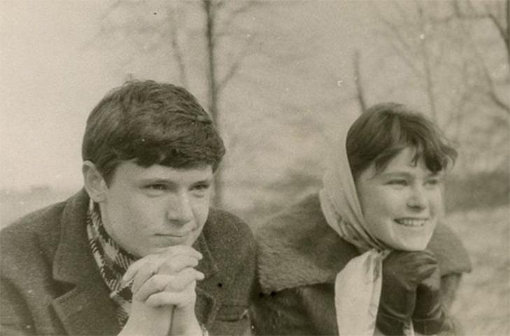 С женой Людмилой в молодости