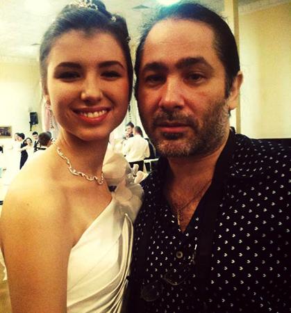 С дочерью Вероникой