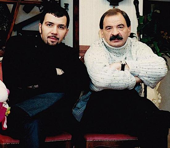 С сыном Денисом