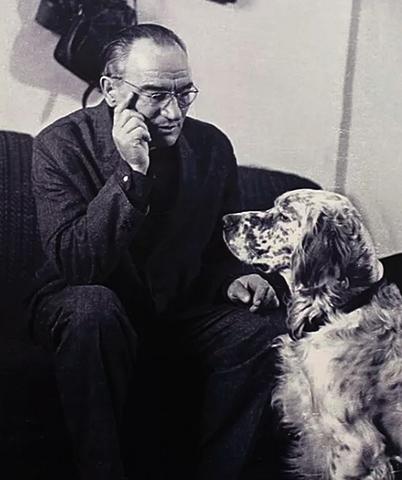 Гавриил Троепольский с собакой