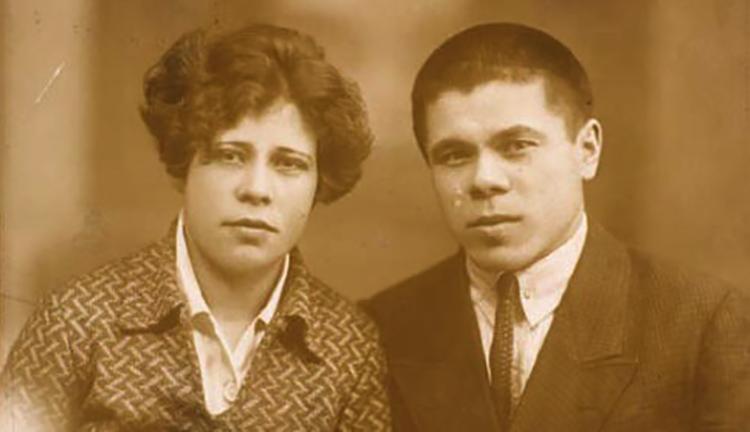 С женой Кадрией