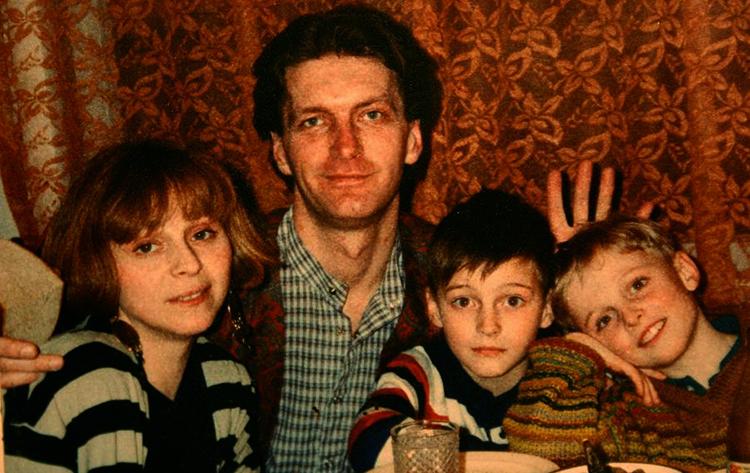 С женой Марией и детьми Александром и Иваном