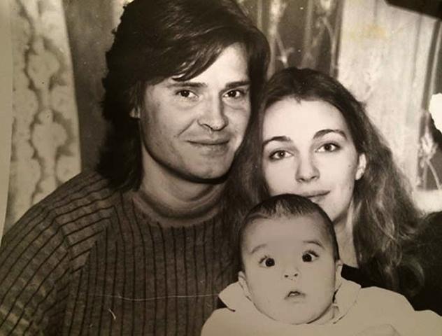 С первым мужем Олегасом и дочерью Агнией
