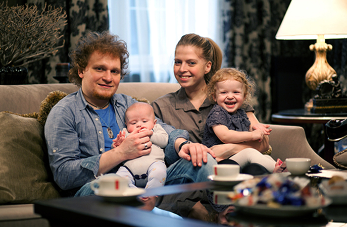 С первой женой Марией и детьми