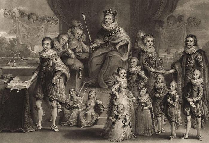 Яков I и его семья. Картина 1814 г.