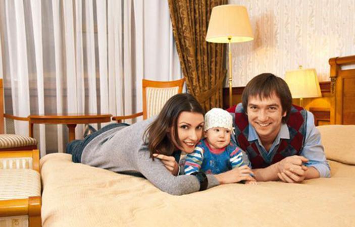 С Ириной Шебеко и дочерью Александрой