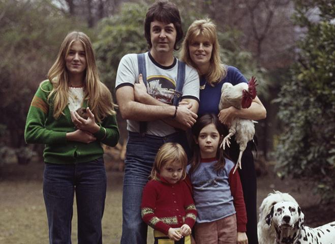 С первой женой Линдой и детьми