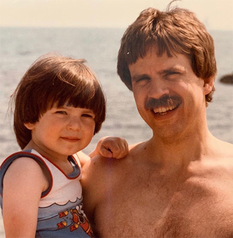 Крис Эванс с отцом