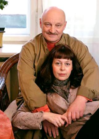 С третьей женой Расой фон Торнау