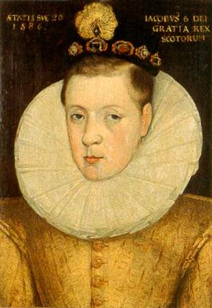 Яков в 1586 г. в возрасте 20 лет