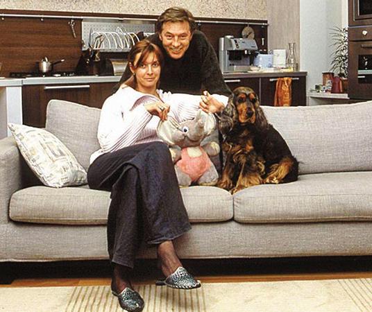 Со второй женой Ларисой Борушко